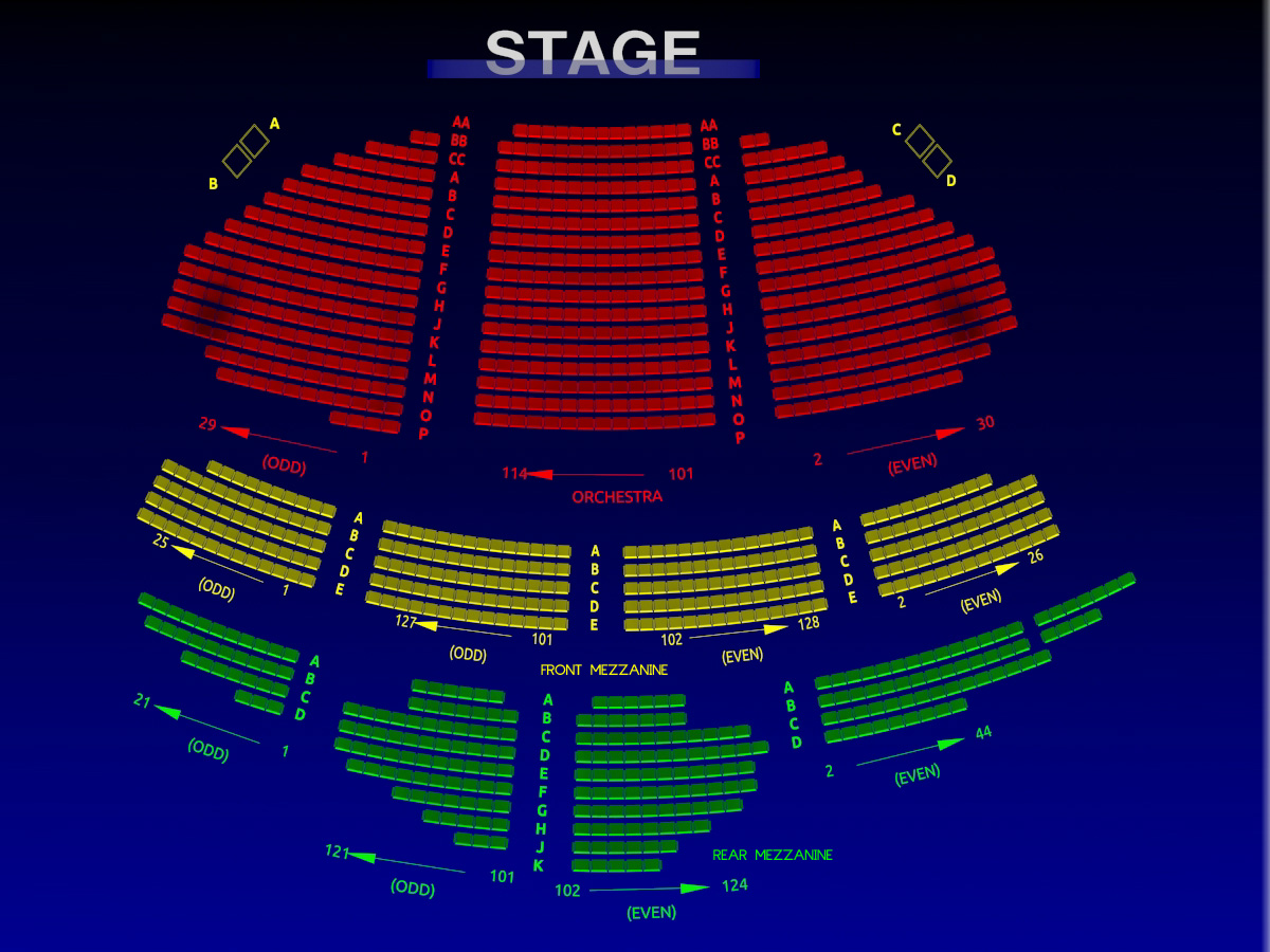 Ambassador Theater Seating Chart Ambassador Theatre
