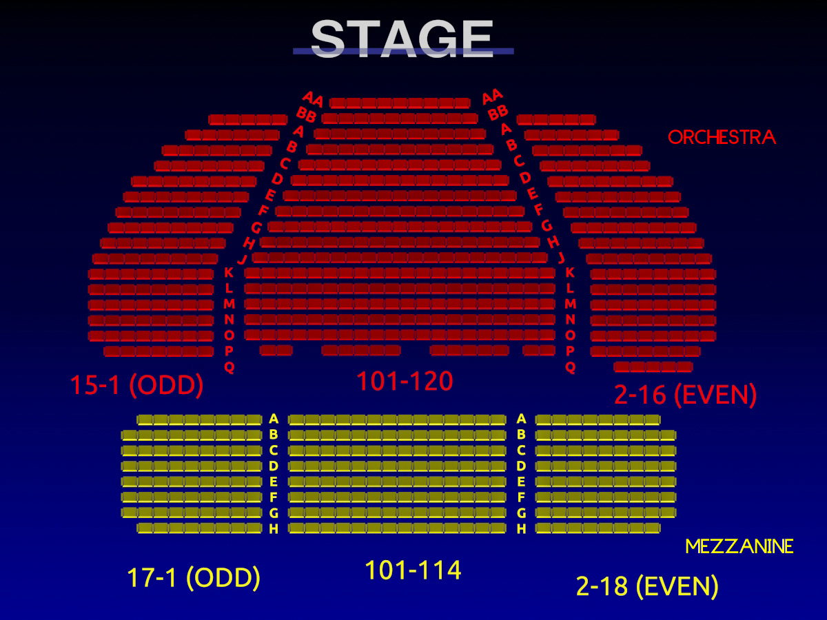 Booth theatre seating chart the booth theatre on for Broadway plan