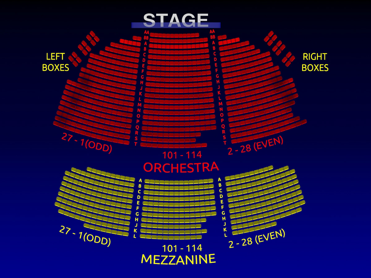 Broadhurst Theatre Group Broadway Seating Chart History