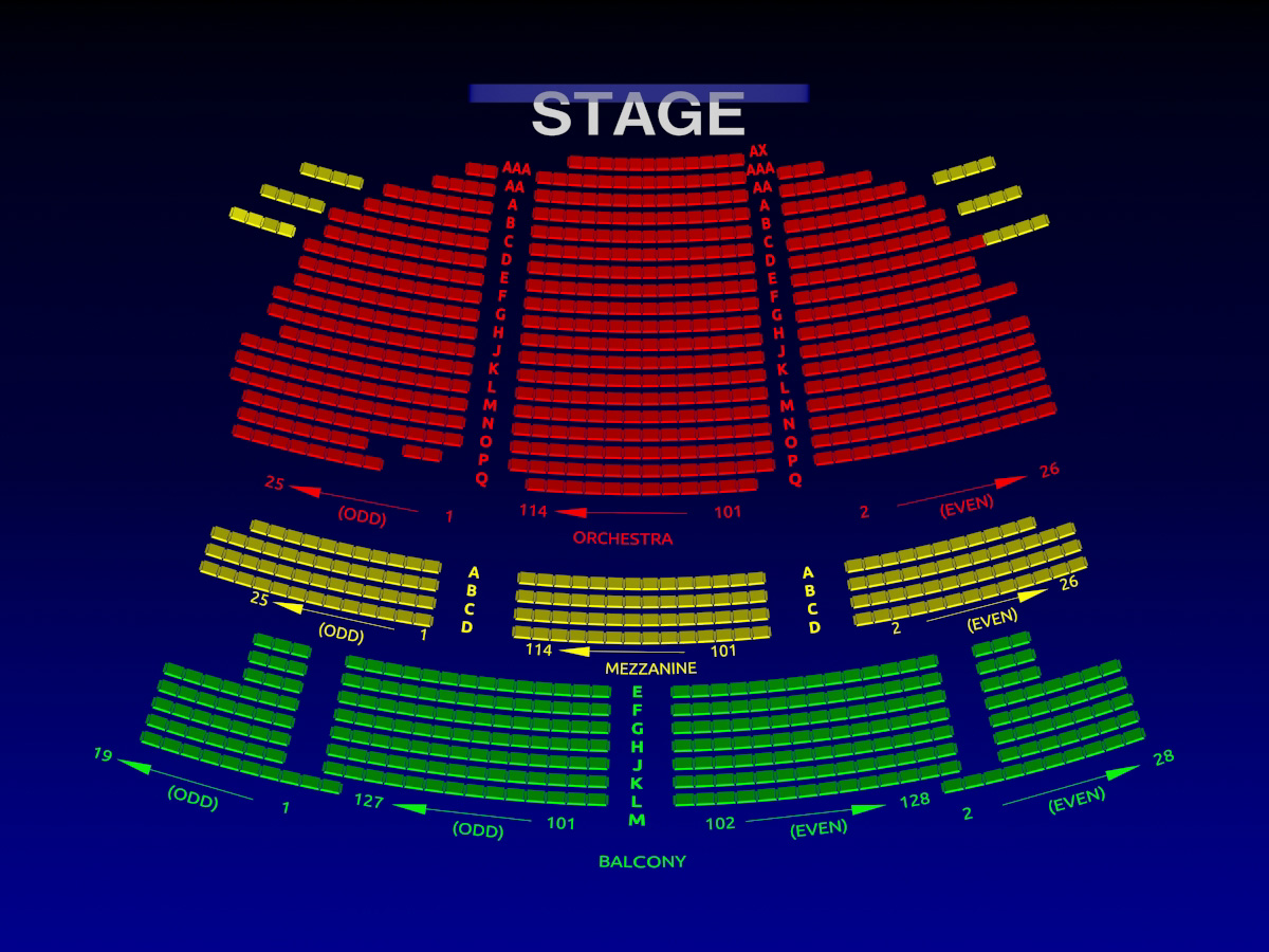 Brooks Atkinson Theatre Broadway Seating Chart History