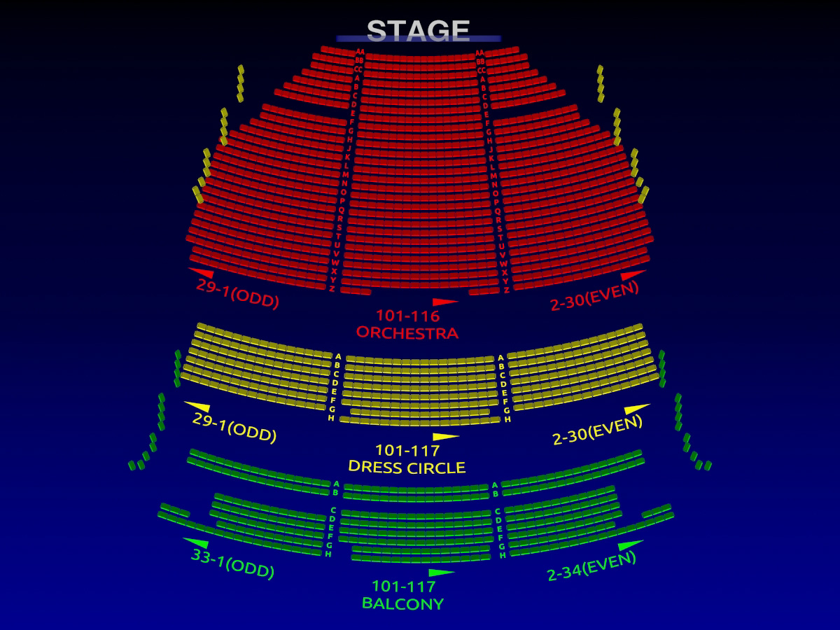 Lyric Theatre Broadway Seating Chart Broadway Scene