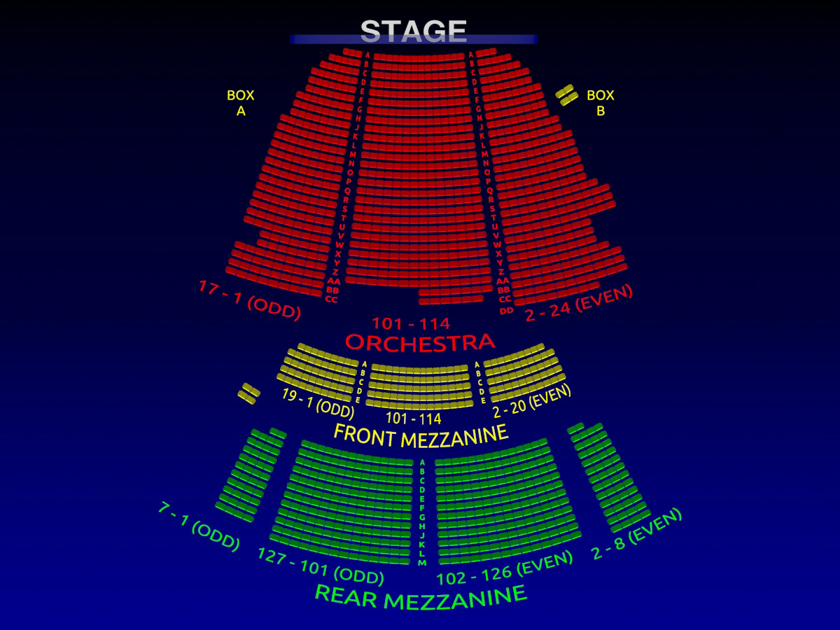 Lunt Fontanne Theatre Motown 3 D Broadway Seating Chart