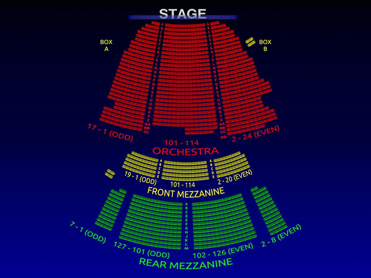 Lunt Fontanne Theatre Motown 3 D Broadway Seating Chart Broadway Scene