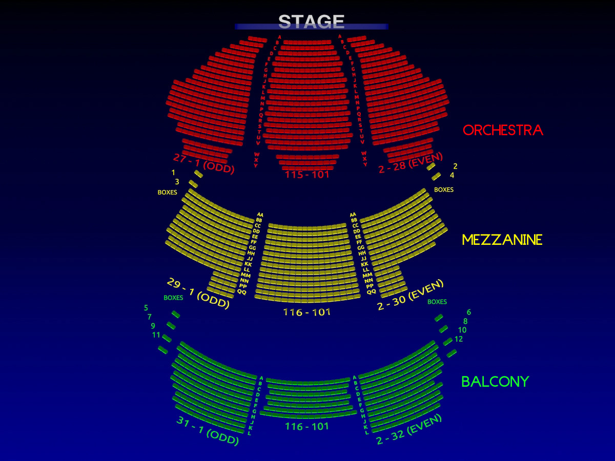 broadway seating chart new amsterdam theatre seating chart