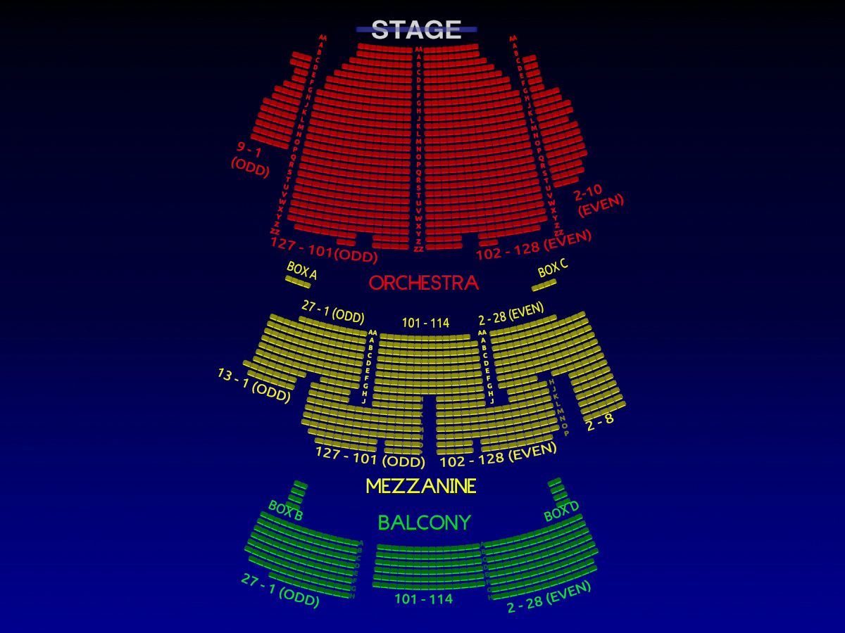 Palace Theatre Interactive 3 D Broadway Seating Chart