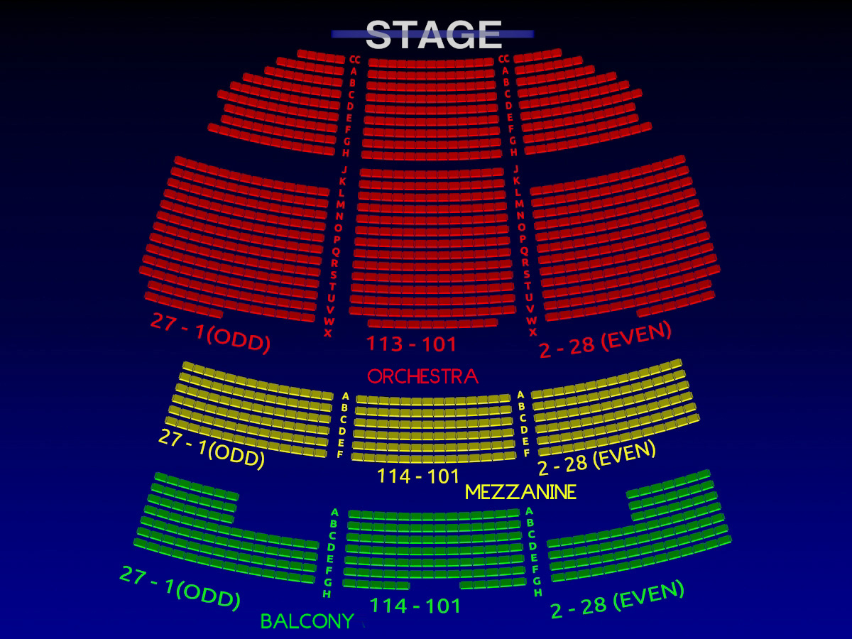 Richard rodgers theater seating chart richard rodgers for Broadway plan