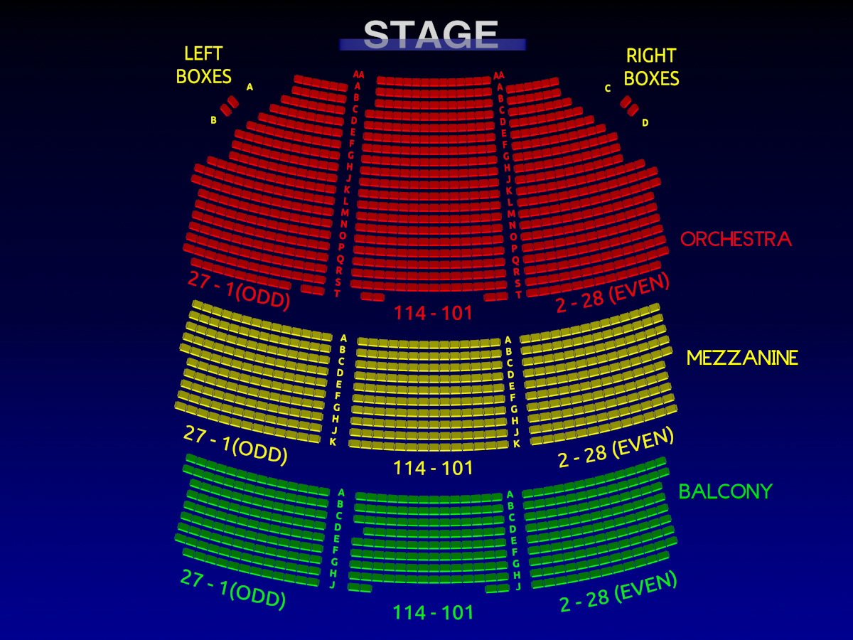 Shubert theatre matilda interactive broadway seating chart