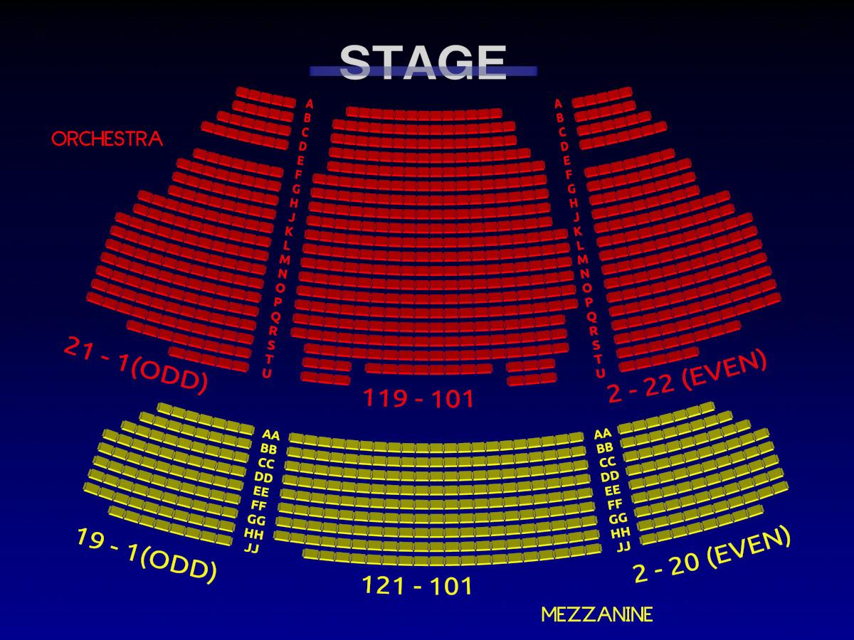 Stephen Sondheim Theatre Interactive Broadway Seating