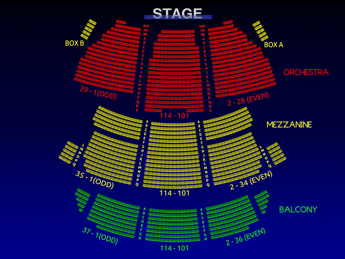 St James Theatre Interactive 3 D Broadway Seating Chart