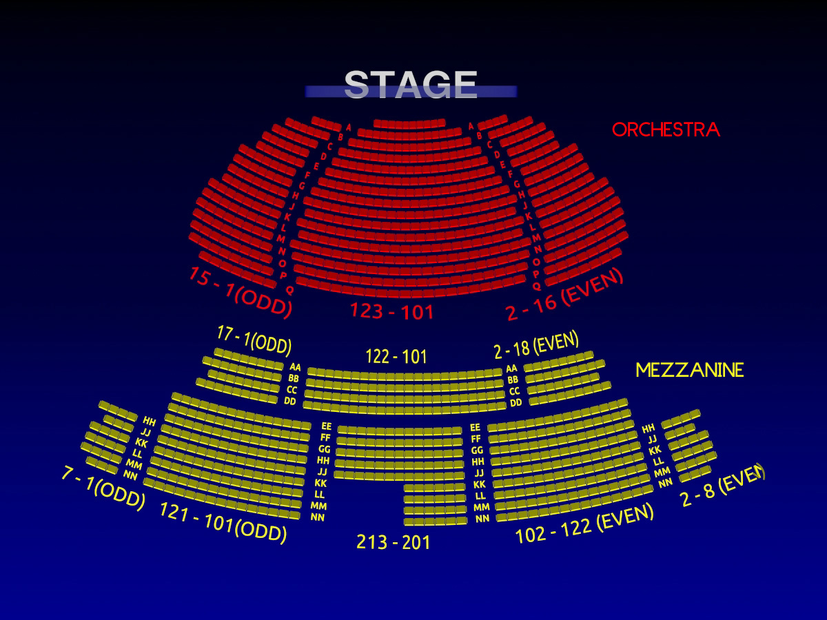 studio 54 interactive 3 d broadway seating chart history