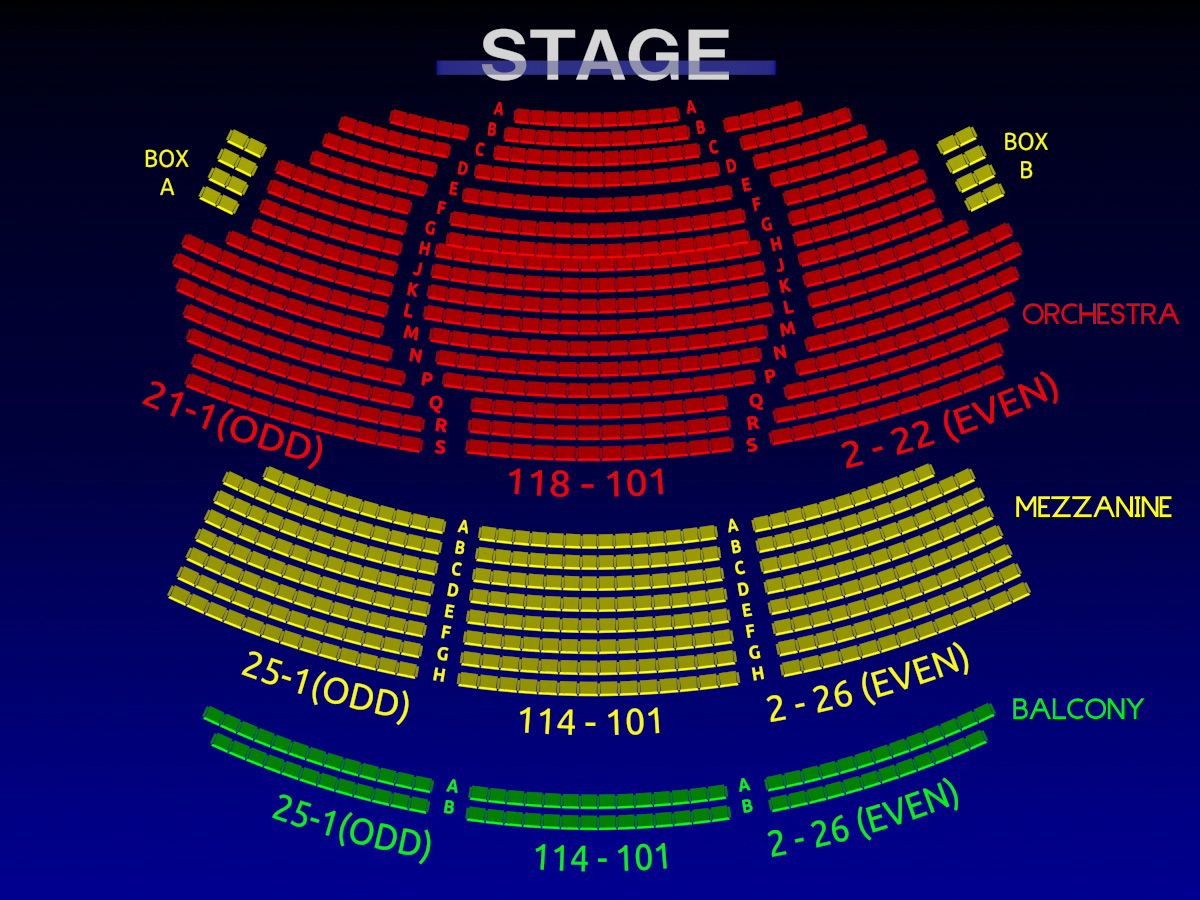 Walter kerr theatre interactive 3 d broadway seating chart