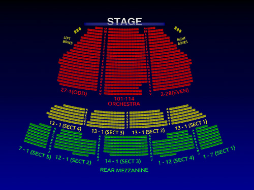 Imperial Theatre Nice Work 3 D Broadway Seating Chart