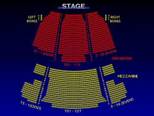 Broadway seating charts neil simon theatre seating chart broadway