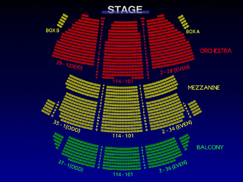 St James Theatre Interactive 3 D Broadway Seating Chart Broadway