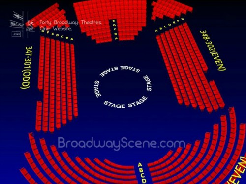 Circle in the Square Theatre: Broadway Seating Chart, Info