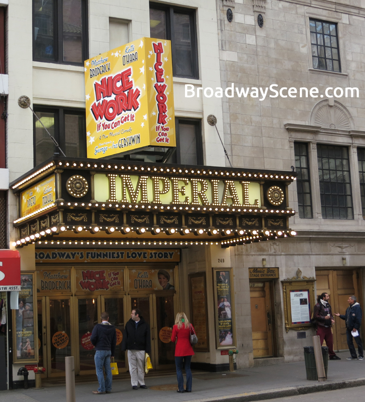 Lyric lyric theatre nyc : Imperial Theatre: Nice Work 3-D Broadway Seating Chart, info ...