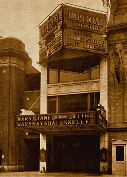 The Imperial Theatre opened in 1923 during the midpoint of the Broadway building boom.