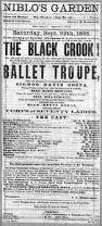 ballet troupe Black Crook.