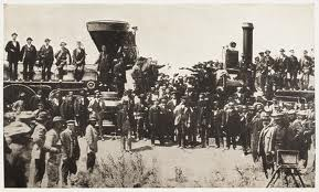 Although the first transcontinental railroad was not completed until 1869 by 1866 shows could easily go to the Midwest.