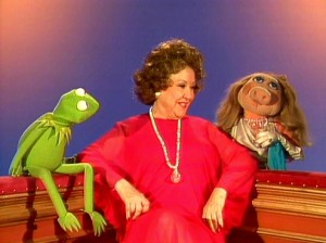 With Kermit and Miss Piggy.