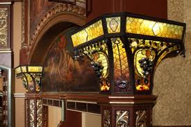 Belasco's Tiffany glass and murals.