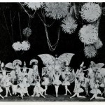 The Ziegfeld Follies featured huge, fantastical scenes.