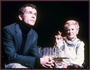 Stritch as Joanne and Dean Jones as Bobbie in Company.