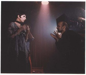 Fosse directing Minnelli in the film Cabaret.