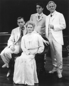 Kevin Spacey, Bethel leslie, Peter Gallagher and Jack Lemon in Long Day's Journey into Night.