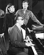 Mary Tyler Moore and Richard Chamberlain rehearse with composer Bob Merrill.