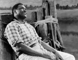"Paul Robeson sings ""Ol' Man River"" in the 1936 film."