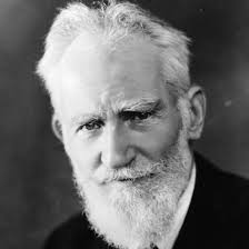 Playwright George Bernard Shaw.
