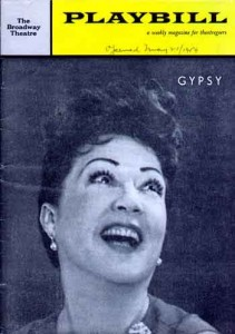 The Gypsy playbill cover.