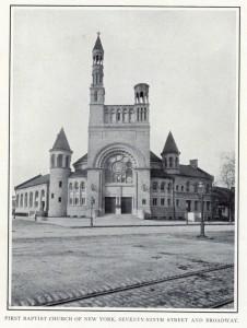 The First Baptist Church.