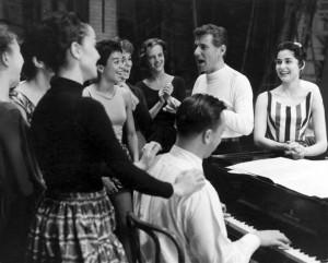 Rehearsal with Bernstein.
