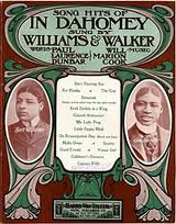 Williams & Walker in the hit show In Dahomey.