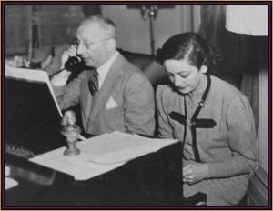 Kern with lyricist Dorothy Fields.