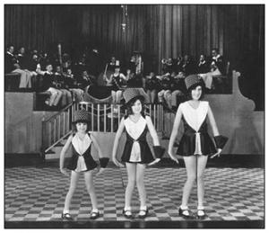 Judy Garland, left, in Chicago, playing vaudeville.