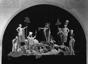 The original Ziegfeld Follies of 1919. Salome stage production.